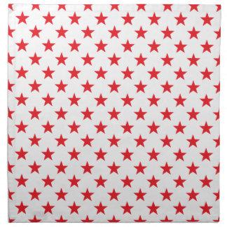 Rojo de la estrella 1 servilleta imprimida