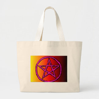 Rojo de la estrella de Wiccan Bolsa Tela Grande