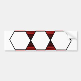 Rojo de la estrella del hexágono pegatina para auto
