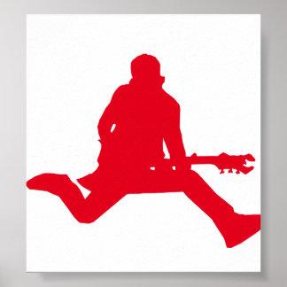 Rojo de la estrella del rock posters