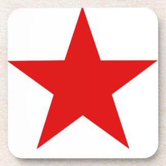 ★ rojo de la estrella posavasos de bebida