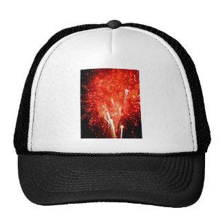Rojo de la explosión gorras