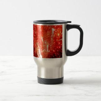 Rojo de la explosión taza de viaje de acero inoxidable