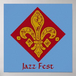 Rojo de la flor de lis, Fest del jazz Impresiones