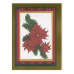 Rojo de la flor del navidad tarjetas postales