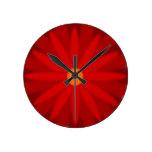 Rojo de la floración relojes de pared