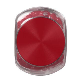 Rojo de la fresa frascos de cristal