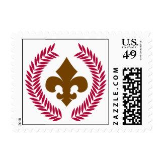 Rojo de la gala sellos postales