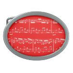 Rojo de la hebilla del cinturón de la partitura hebillas cinturon ovales