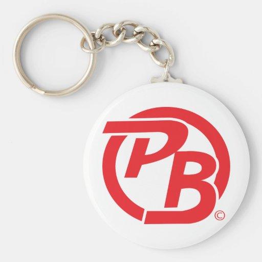 Rojo de la identificación del logotipo de Pecky Bo Llavero Redondo Tipo Pin