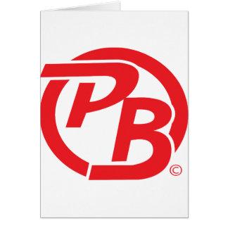 Rojo de la identificación del logotipo de Pecky Bo Tarjeta De Felicitación