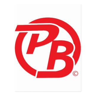 Rojo de la identificación del logotipo de Pecky Postal