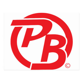 Rojo de la identificación del logotipo de Pecky Tarjetas Postales