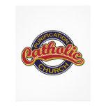 Rojo de la iglesia católica de la purificación en  membrete a diseño
