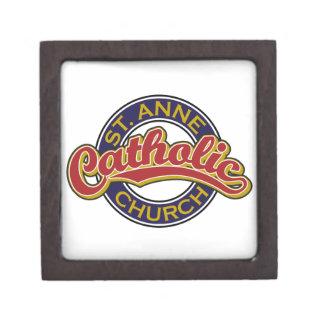 Rojo de la iglesia católica de ST ANNE en azul Caja De Recuerdo De Calidad