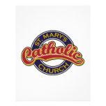 Rojo de la iglesia católica de St Mary en azul Membrete Personalizado