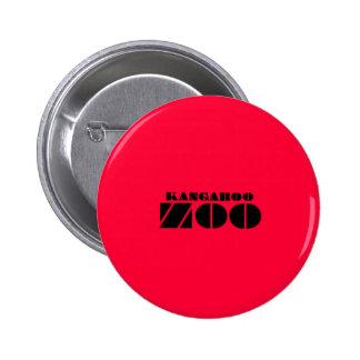 Rojo de la insignia de la etiqueta del parque zool pin redondo de 2 pulgadas