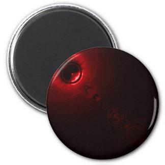 Rojo de la llamarada solar imán de frigorífico
