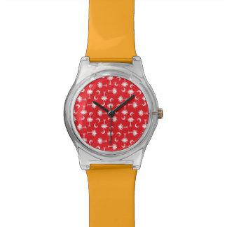 Rojo de la luna del Palmetto del SC Reloj De Mano