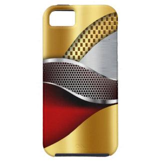 Rojo de la malla de la plata del oro del coche de funda para iPhone SE/5/5s