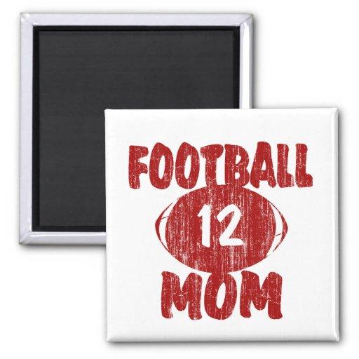 Rojo de la mamá del fútbol imanes