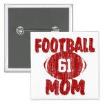 Rojo de la mamá del fútbol pin