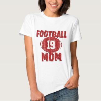Rojo de la mamá del fútbol polera
