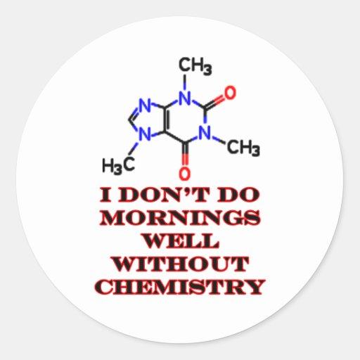 Rojo de la mañana del cafeína los regalos de pegatina redonda