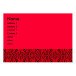 rojo de la mancha tarjetas de visita grandes