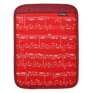 Rojo de la manga del iPad de la partitura Funda Para iPads