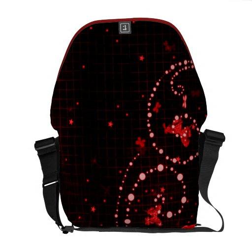 Rojo de la mariposa bolsa de mensajería