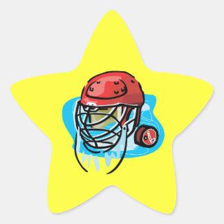 Rojo de la máscara del portero pegatinas forma de estrellaes personalizadas