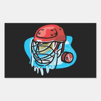 Rojo de la máscara del portero rectangular pegatinas