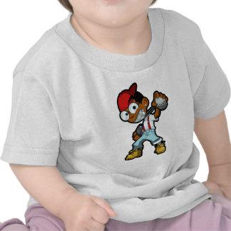 Rojo de la mascota de HoodNerd Camiseta