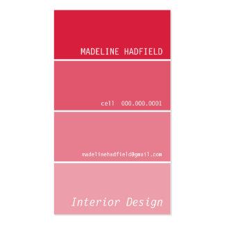 Rojo de la muestra del microprocesador de la tarjetas de visita