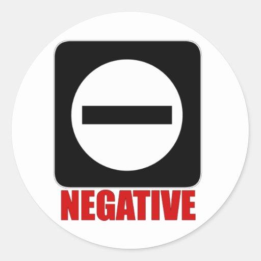 Rojo de la negativa 1 pegatina redonda