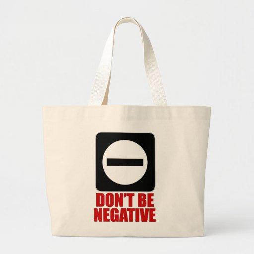 Rojo de la negativa 2 bolsa tela grande
