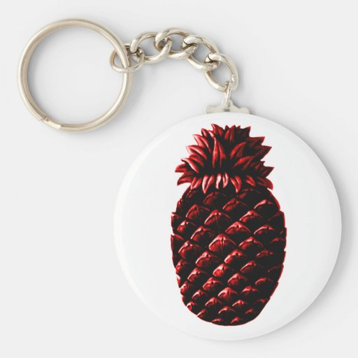Rojo de la piña de la hospitalidad los regalos de  llaveros