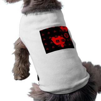 rojo de la radiación playera sin mangas para perro