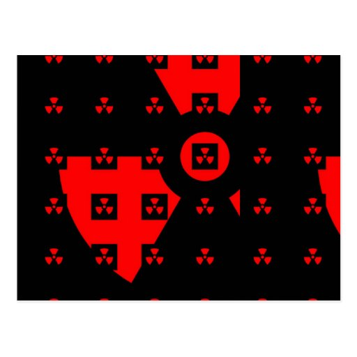 rojo de la radiación postales