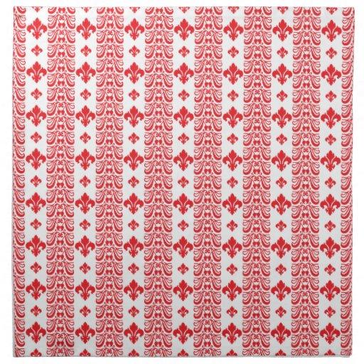 Rojo de la raya 1 de Fleur Servilleta De Papel