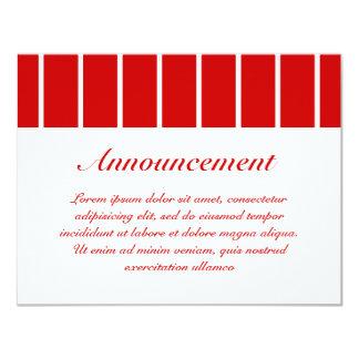 Rojo de la raya del Pin + Color de encargo Comunicados Personales