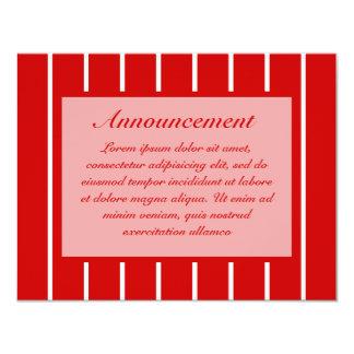 Rojo de la raya del Pin + Color de encargo Invitacion Personalizada