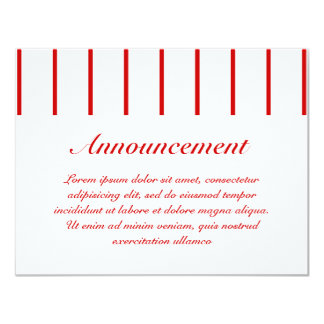 Rojo de la raya del Pin + Color de encargo Invitaciones Personalizada