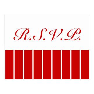 Rojo de la raya del Pin + Color de encargo Tarjetas Postales