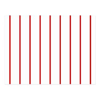Rojo de la raya del Pin + Color de encargo Postal