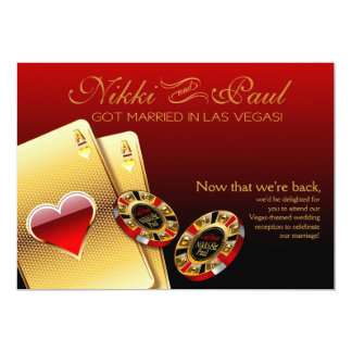 Rojo de la recepción el | de Las Vegas VIP Invitación 12,7 X 17,8 Cm