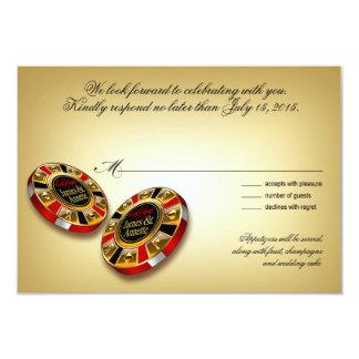 Rojo de la respuesta el | de Las Vegas VIP RSVP Invitación 8,9 X 12,7 Cm
