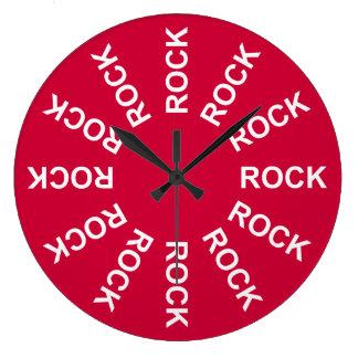 Rojo de la roca las veinticuatro horas del día reloj de pared