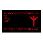 Rojo de la runa de Algiz Plantilla De Tarjeta Personal